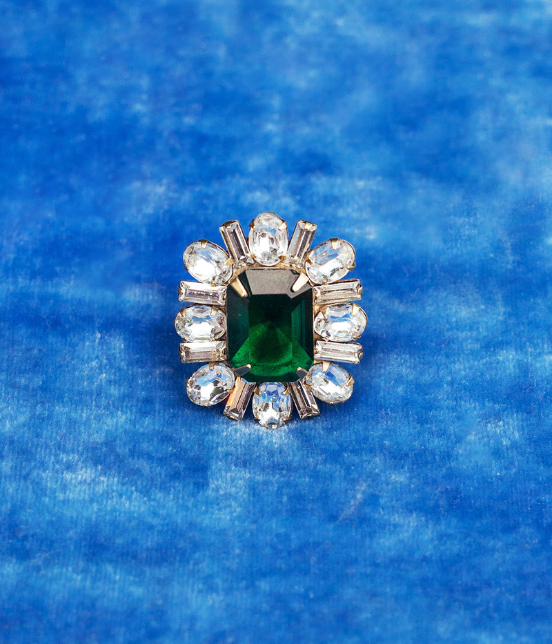 Emerald cocktail ring