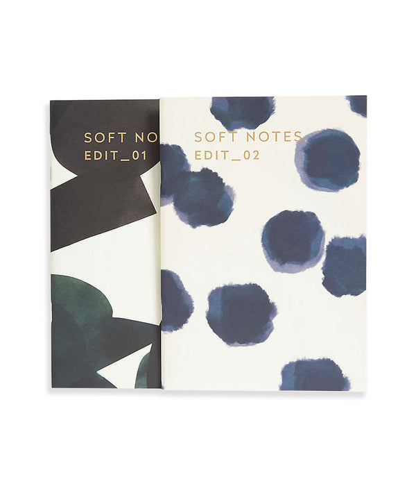Darling Clementine Soft Notebook Set - Green Dots