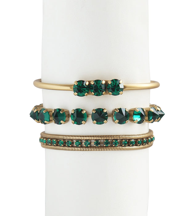 Wrist Bliss Stack in Emerald