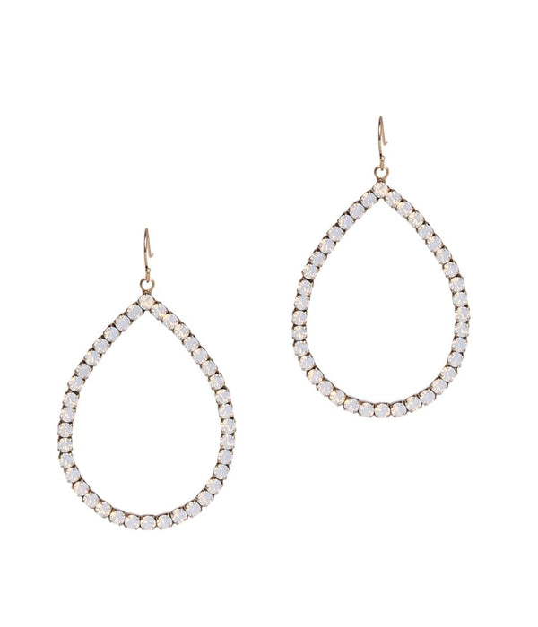 EMILIA HOOPS IN WHITE OPAL