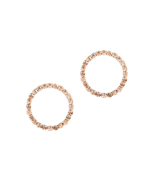 Fiona Hoops in Light Peach
