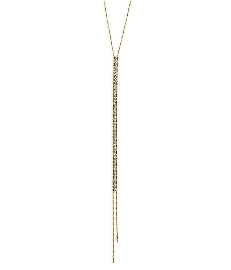 GLENN Y NECKLACE IN GOLD CRYSTAL
