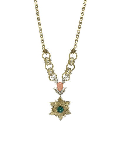 JAMIE NECKLACE IN GOLD CRYSTAL