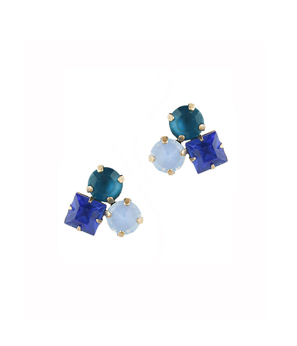 Harlow Studs in Blue