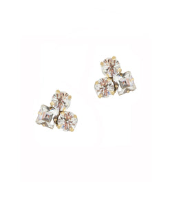 Harlow Studs in Crystal