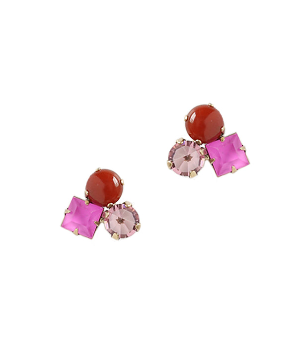 Harlow Studs in Purple