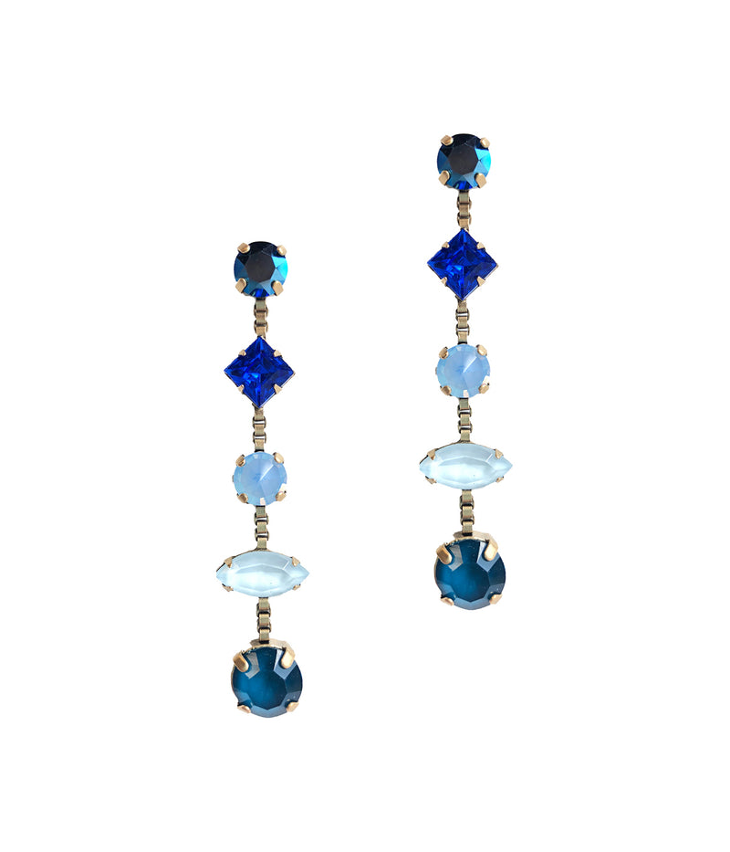 Harlow Drop Earrings in Blue