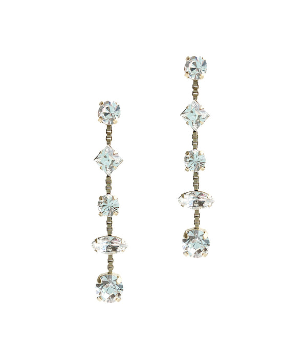 Harlow Drop Earrings in Crystal