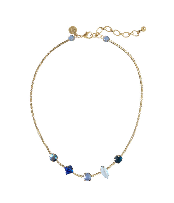 Harlow Short Necklace in Blue