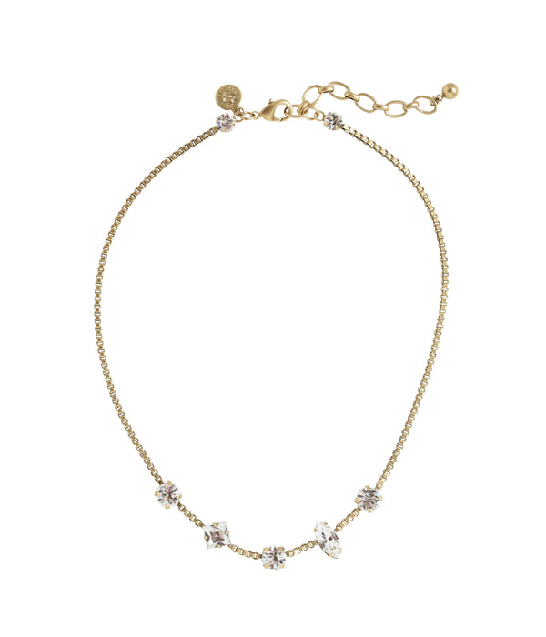 Harlow Short Necklace in Crystal