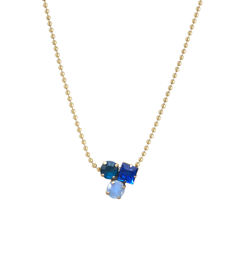Harlow Delicate Necklace in Blue
