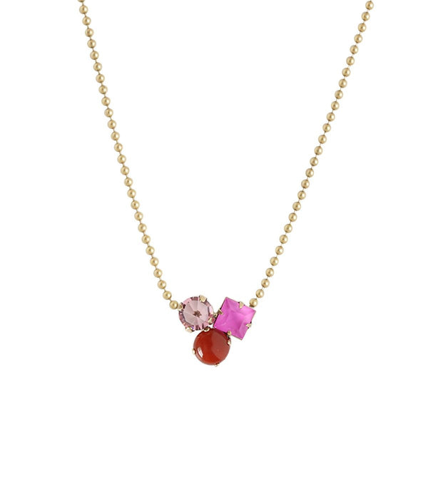 Harlow Delicate Necklace in purple