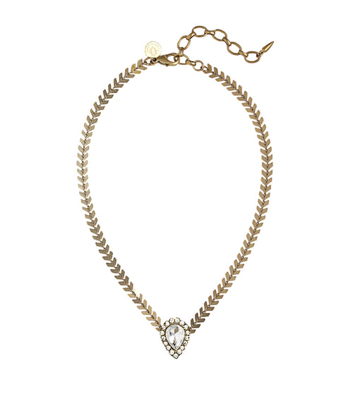 HAYDEN CHOKER IN GOLD CRYSTAL