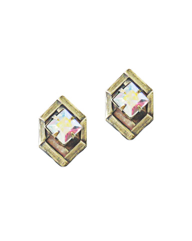 HEX STUDS IN IRIDESCENT