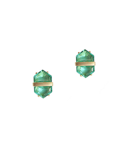 Adina Earrings in Leaf Green
