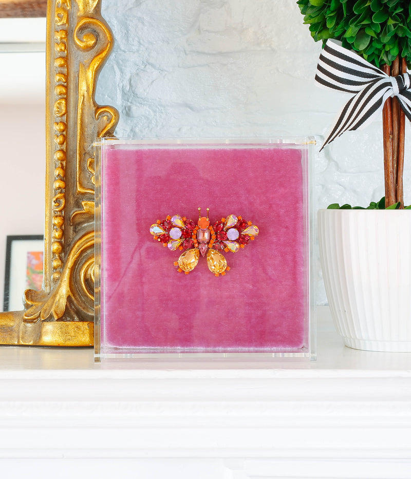 Small Butterfly in Orange / Fuchsia / Violet
