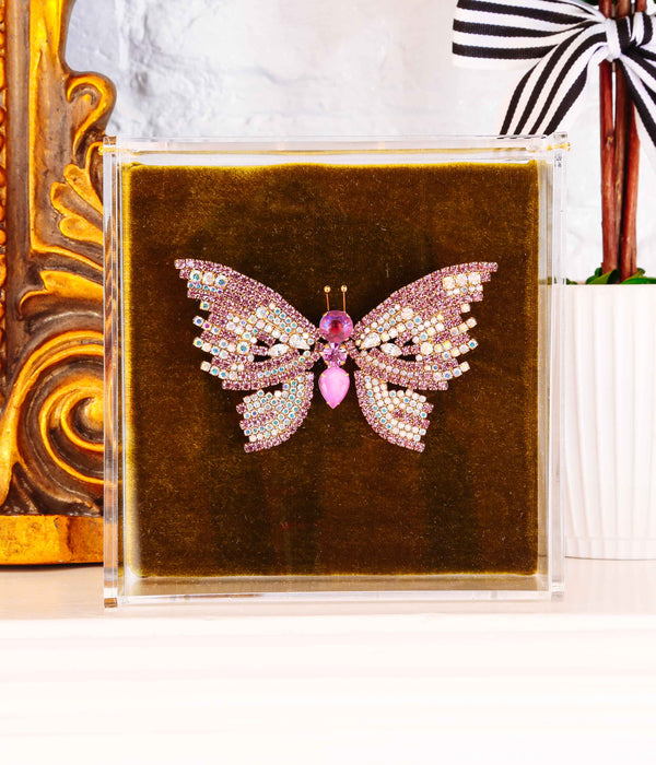 Extra Large Butterfly in Amethyst / Iridescent