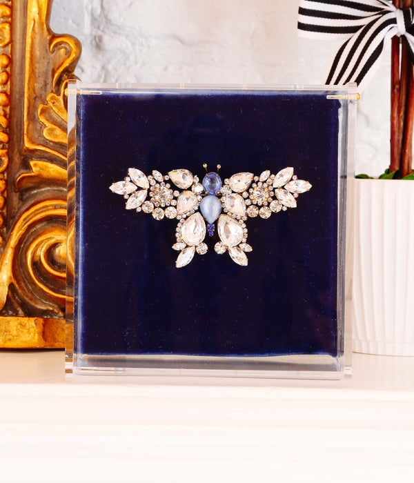 Large Butterfly in Crystal / Light Sapphire