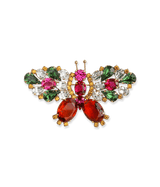 Small Butterfly in Fuchsia / Topaz / Erinite