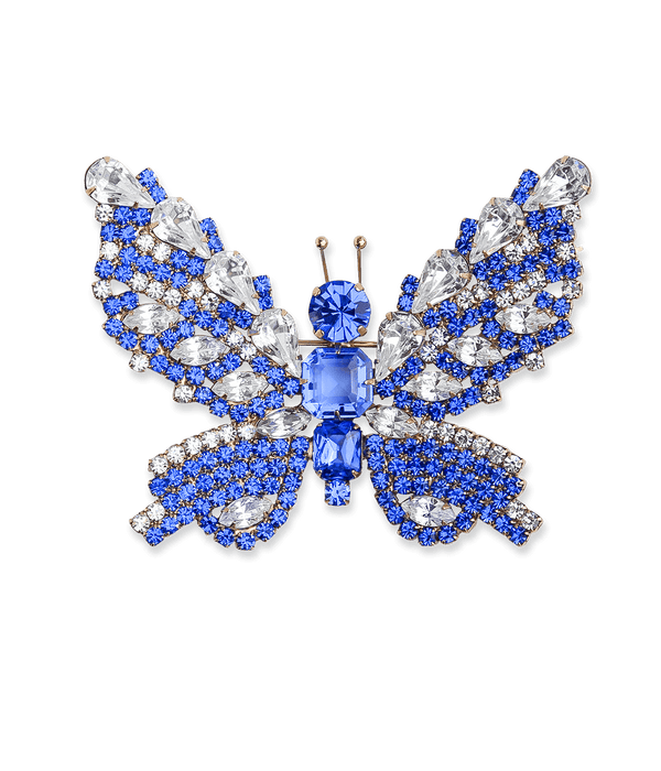 Large Butterfly in Sapphire / Crystal