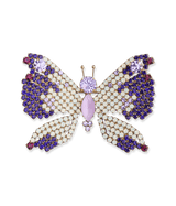 Large Butterfly in White Opal / Violet / Tanzanite