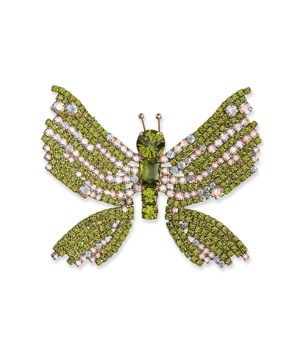 Large Butterfly in Iridescent / Olive