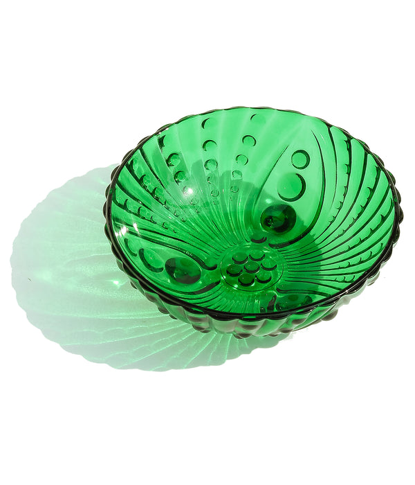 Vintage Green Glass Catch-All Dish
