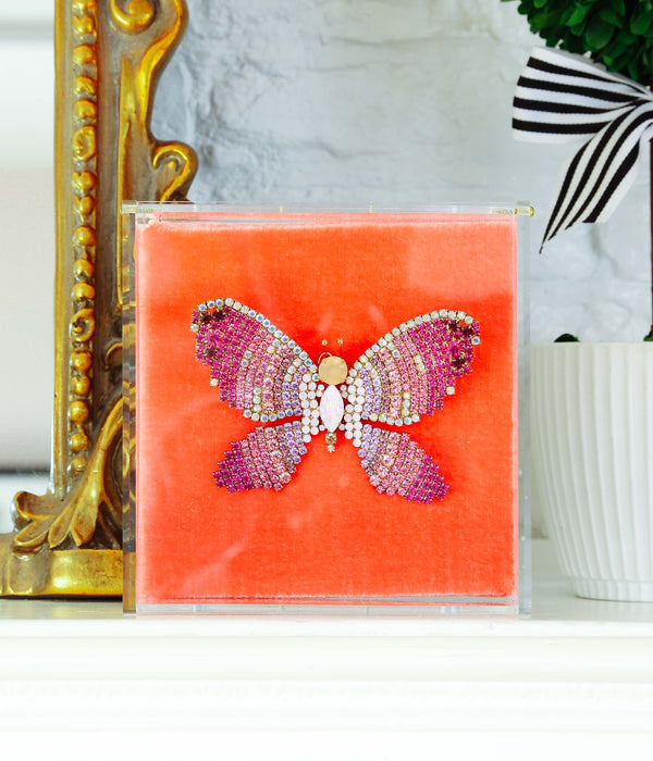 Extra Large Butterfly in Rose Opal / Violet / Fuchsia