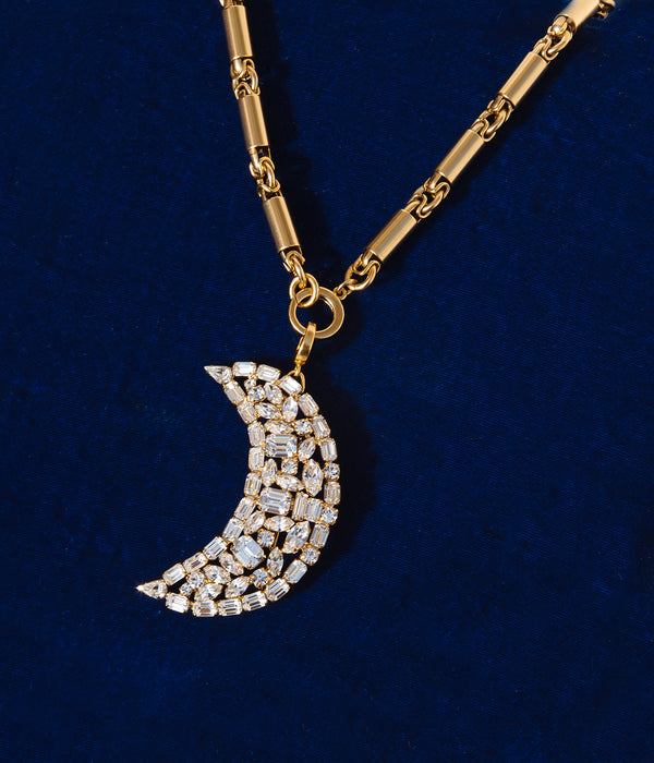 Hurley Chain & Luna Convertible Pendant/Brooch Set