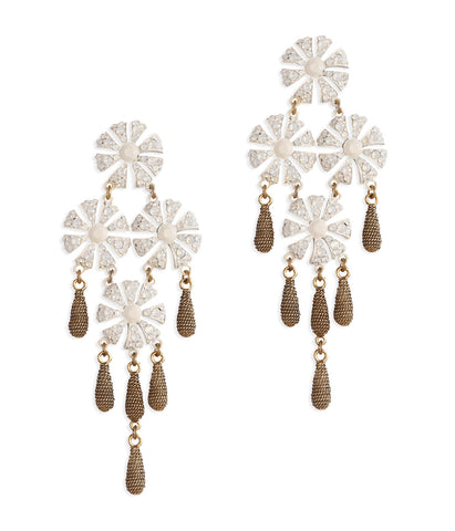 JASMINE EARRINGS IN WHITE