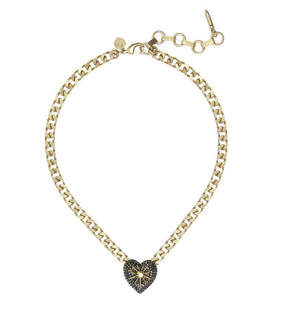 GLENN CHOKER IN GOLD CRYSTAL