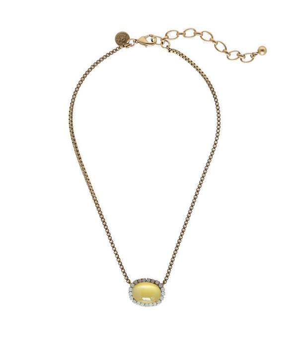 Kate Short Necklace in Yellow