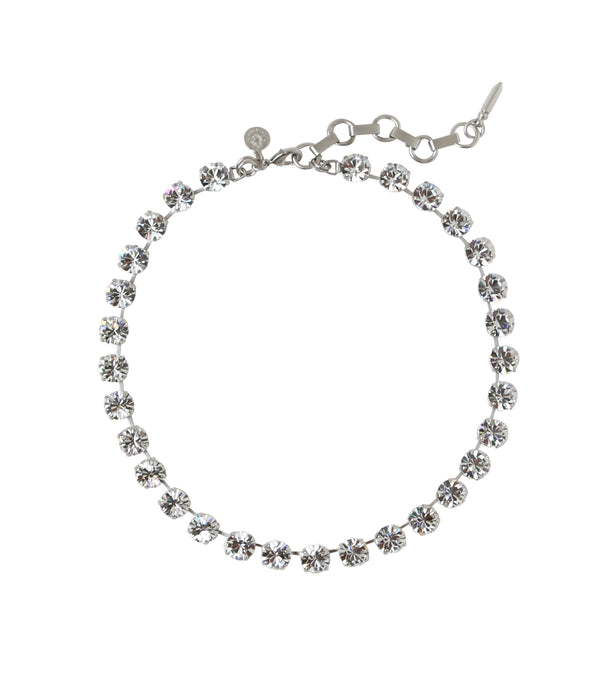 KAYLEE NECKLACE IN SILVER CRYSTAL