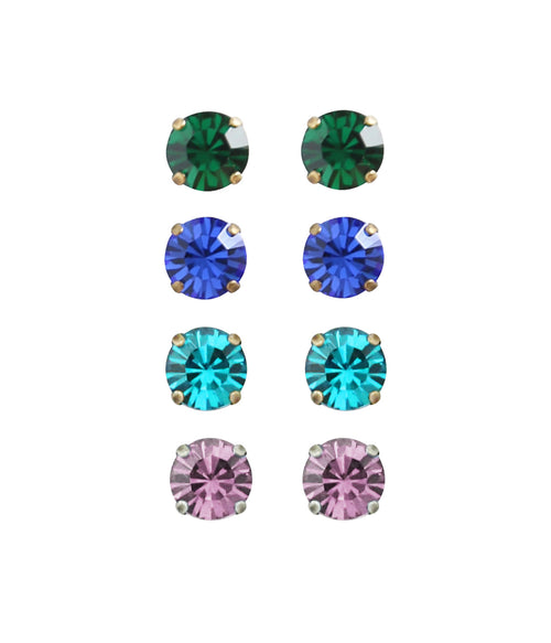 Kaylee Stud Set - Cool Colors