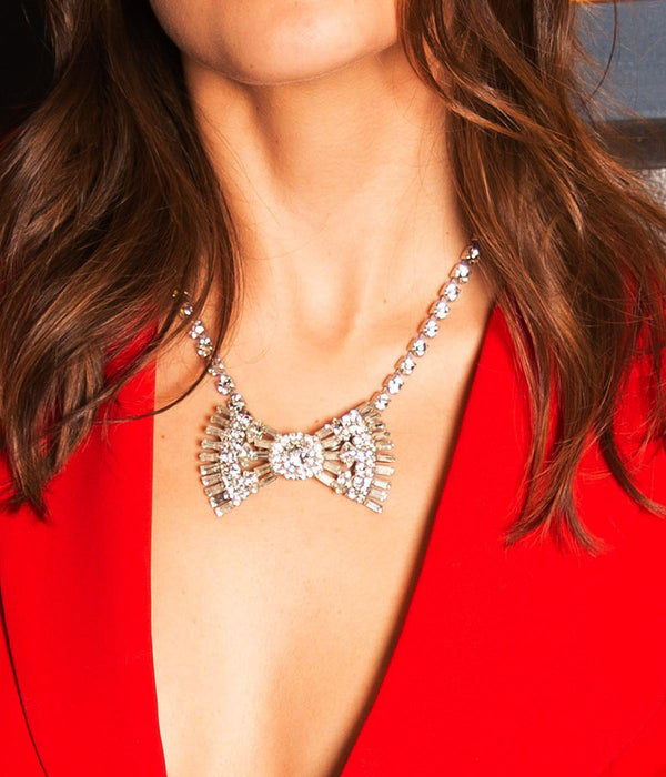 Chloe Bow Tie Necklace - Loren Hope