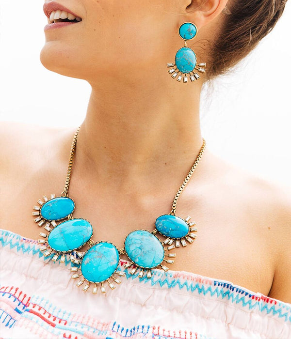 ROXY NECKLACE IN TURQUOISE