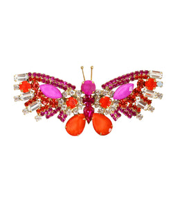 Large Butterfly in Fuchsia / Deep Orange
