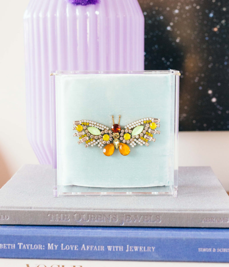 Large Butterfly in Neon Yellow / Marigold