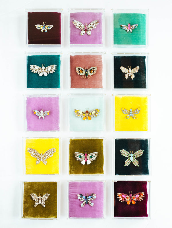 Loren Hope Butterfly Series, Jeweled butterfly brooch