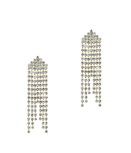 MARISSA EARRINGS IN GOLD CRYSTAL