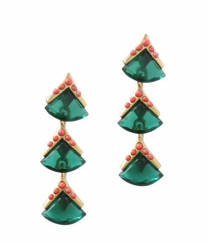 MIDORI DROP EARRINGS IN EMERALD