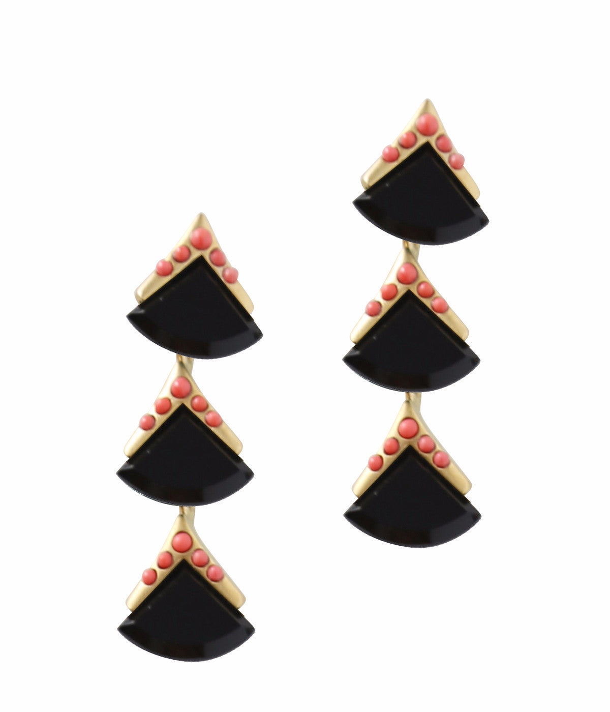 MIDORI DROP EARRINGS IN JET