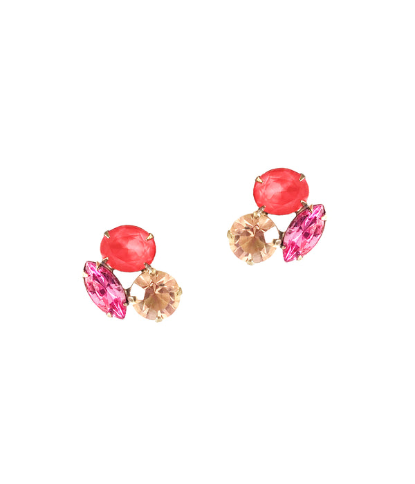 Millie Studs in Azalea / Rose