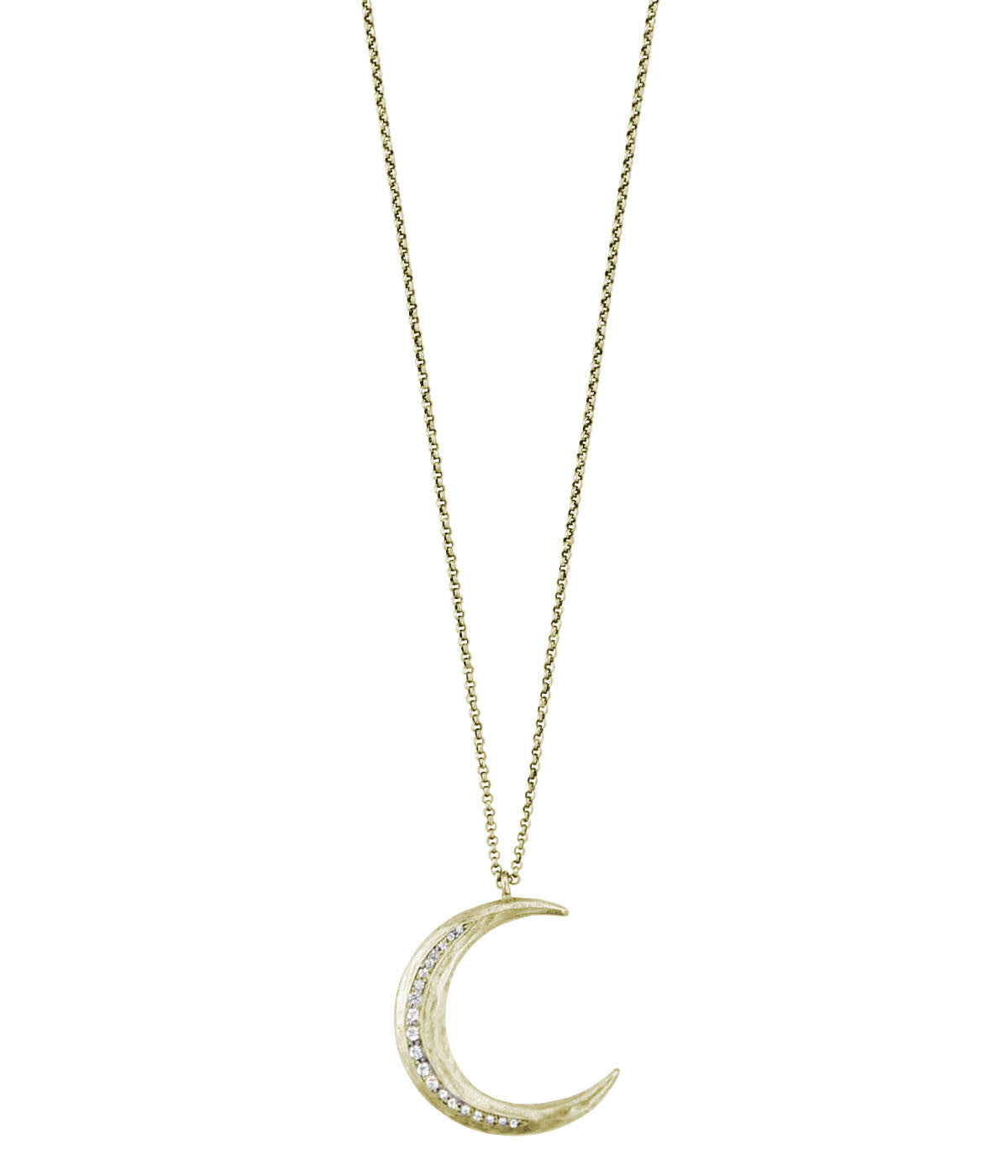 CRESCENT MOON PENDANT IN GOLD