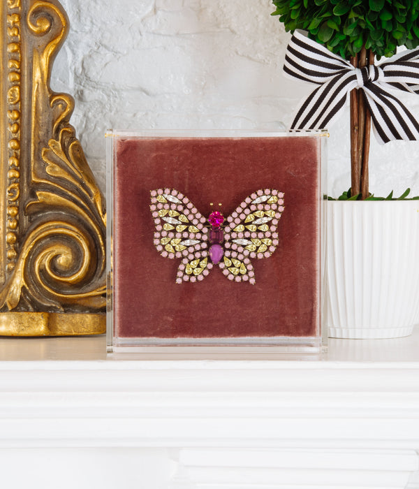 Extra Large Butterfly in Matte Pink / Jonquil / Fuchsia