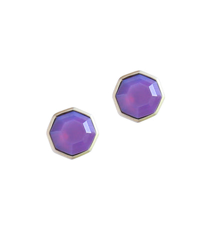 Octavia Studs in Purple Opal