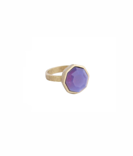 OCTAVIA RING IN PURPLE OPAL