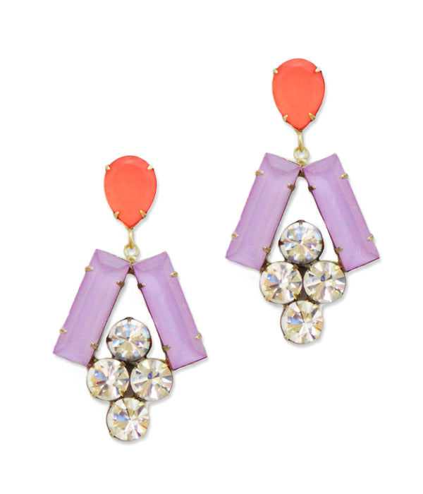 Petra Earring in Orchid / Azalea - Loren Hope