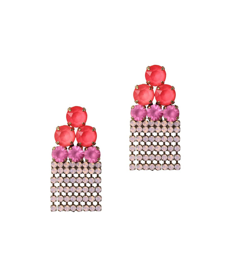 PETUNIA EARRINGS IN AZALEA