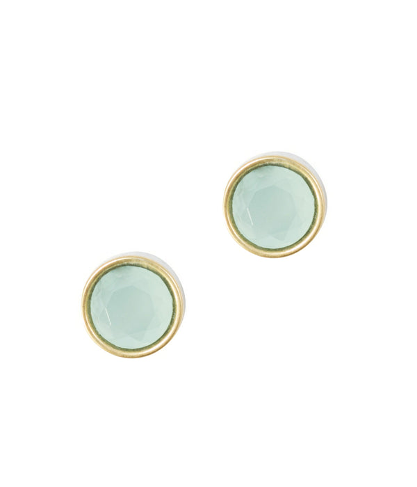 ROSALIE STUDS IN OPALINE GREEN